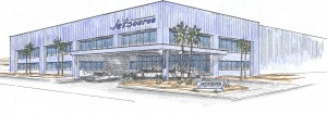 Jet Source unveils the architectural rendering of its new 35,000-square-foot, full-service facility to be built at Henderson Executive Airport (HEA). Completion is expected in March 2008.