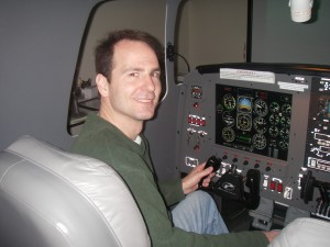Chris Worley obtained his IFR rating and trained in the Modular Flight Deck simulator.
