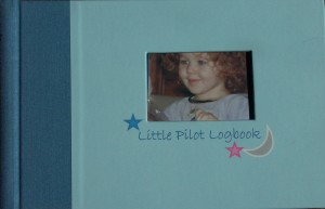 "Asavri Gupte said that the most challenging parts of designing the ""Little Pilot Logbook"" was the detailing of the front and back covers and the die-cut opening on the front cover. Parents can personalize the cover with baby's picture."