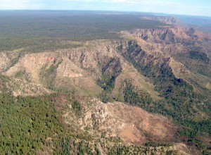 The densely forested Mogollon Rim marks the shoulder of the mighty Colorado Plateau.