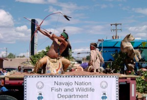 Traditions and tribal departments are well represented in the Navajo Nation Fair Parade.