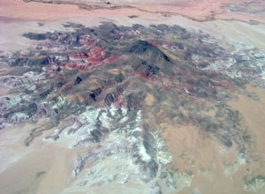 The Painted Desert is even more striking from the air than on the ground.