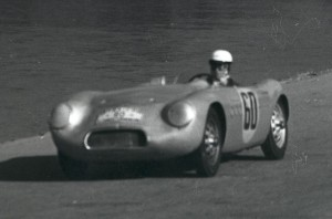 The Borgward RS55 posed a threat to Porsche in the 1954 race until an accident south of Mexico City sidelined it.