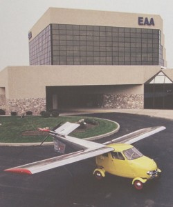 The Aerocar prototype is displayed at the AirVenture Museum in Oshkosh, Wis.