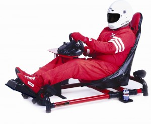 Racing enthusiasts will enjoy the HotSeat's racing configuration, modeled after Formula One race cars.