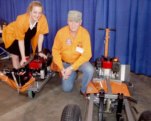 William Anson, creator of Airtug equipment, and his daughter Karen, who now runs the company, displayed their product line of aircraft towing products at the Northwest Aviation Conference and Trade Show, held near Seattle in January.