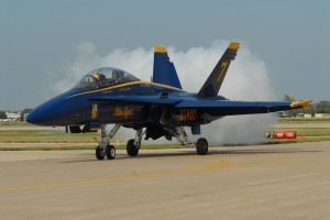 Lt. Cmdr. Kevin Davis flew #6 of the F/A-18 Hornets in the Blue Angels demonstration team.