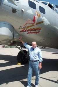 Former B-17 World War II pilot Lt. John Bockhorst completed 26 combat missions when he was 21. He hadn't been in a B-17 for more than 62 years.