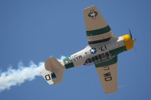 John Collver demonstrates a slow roll in his North American AT-6/SNJ Texan.