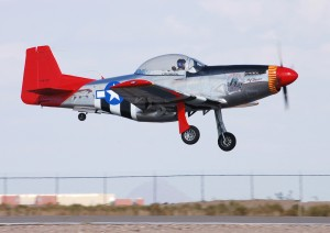 After a routine flight, Lee Owens lands his aircraft at Glendale Airport.