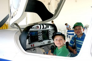 At the Premier Aircraft Sales open house, two young pilots dream about flying a Diamond DA-40.