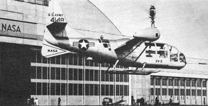 First flown in 1955, the XV-3 was a tilt-rotor aircraft able to hover and transition to forward flight, but had a number of design problems. After an accident during wind tunnel testing during 1965, the program ended.
