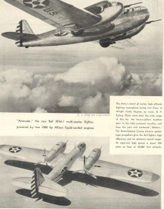 The Airacuda was the first military aircraft produced by the Bell Aircraft Corporation. Construction began in May 1936, and the XFM-1 first flew on Sept. 1, 1937. A bold design, the aircraft was plagued with problems and only 13 were produced.