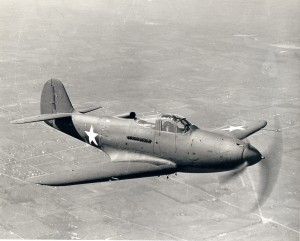 The P-39 Airacobra incorporated several innovations, including a V-12 Allison engine mounted behind the pilot, an automotive-style door located over the wing and a 30-mm cannon that fires through the propeller hub. Its tricycle undercarriage was a first.