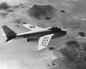 The first aircraft capable of changing the sweep of its wings in flight, the Bell X-5 was based on a German design that never flew. Although only two X-5s were built, the concept would be used successfully in the F-111, F-14 and B-1.