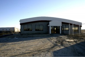 This building is under construction but will soon be home to a high-end restaurant and catering facility.
