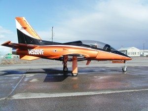 Ready to go on the ramp outside its hangar in Pasco, the Viperjet MKII Executive is designed for corporate and private pilots who want comfort in their cross-country flights or aerobatic maneuvers.