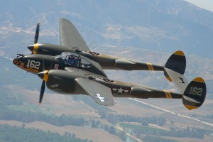 John Maloney flew 23 Skidoo, the Planes of Fame's P-38 Lightning. It's one of only six remaining J model P-38s.