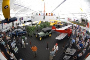The museum displays vintage and unique aircraft and automobiles.