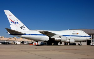 SOFIA, NASA's highly modified Boeing 747SP, made its California debut at Dryden Flight Research Center, Edwards AFB. The airborne observatory is the product of a partnership between NASA and Deutsches Zentrum fur Luft und Raumfahrt, German Aerospace.