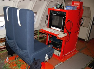 Flight test crew stations are located in the upper deck of the 747SP.