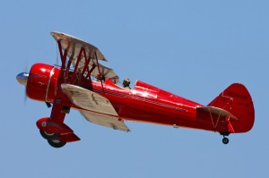 This beautifully restored 1943 Boeing N2S-3 Stearman, piloted by Robert Simon, has won many awards, including best custom biplane at EAA AirVenture.