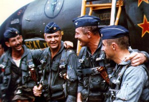 Robin Olds completes his last flight at Ubon air base.