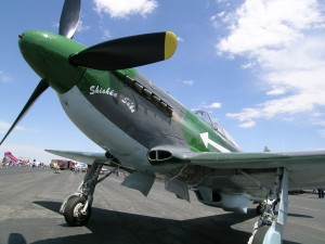 The open house's warbird display included Shiska Suka, a Yak-3. Jim McKinstry owns the Russian fighter.