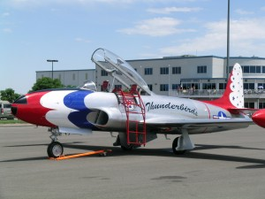 The warbird display showcased Roy Halladay's T-33 jet trainer.