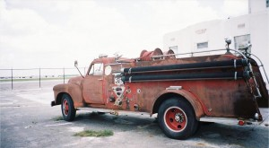 This 1930 fire truck served the William P. Hobby Airport.