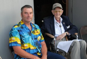 George Perks documented the two-day grand opening of the Bird Aviation Museum and Invention Center, taking more than 1,000 pictures. He took time out from behind the camera to visit with the legends in attendance, such as Tex Hill.