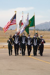 The color guard was a combination of U.S. Forest Service and Cal Fire personnel.