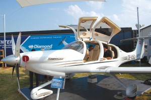 The Diamond DA50 SuperStar has a 52-inch-wide cabin and a full range of creature comforts, including seatback entertainment screens for three in its rear bench seat.