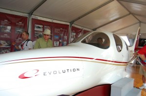 The Evolution is a four-place pressurized aircraft. The cost will be about $250,000 for the kit, minus engine.