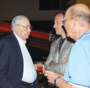 Automotive legend Carroll Shelby (left) is a longtime supporter of the Young Eagles program.