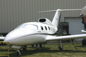 Epic currently sells its Victory as a kit for under $1 million. This prototype was flown into Oshkosh but not at the show.