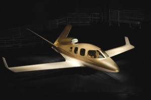 This is a scale model of Cirrus' jet. The company hasn't announced a name or price, and there isn't a prototype yet, but you can reserve a position.