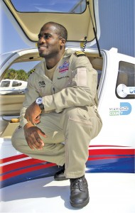 Barrington Irving made his historic flight around the world in a Columbia 400 with over $300,000 in donated equipment. The plane's manufacturer specially assembled the aircraft for the trip.
