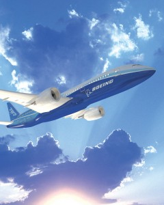 This rendering depicts the Dreamliner in flight, anticipated for this fall. Six planes will be used for meeting Federal Aviation Administration certification.