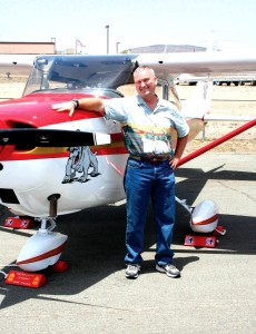 Master Gunnery Sgt. Mike Tyndale had a big smile on his face when he first saw his newly refurbished Cessna Skyhawk.