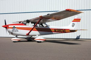 The Cessna's new paint job includes the red and gold colors, insignia and motto of the U.S. Marines.