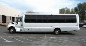 Far more than a taxi service, Transtyle services clients with all types of needs, from shiny new limousines to this versatile, multi-client private bus for conferences and other large events.