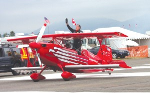 "Popular performances at this year's Northwest EAA Fly-In included ""Magic in the Air,"" the Red Eagles' biplane aerobatics show."