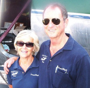 John and Betty Pappas, owners of DreamFlight, left on August 4 for their 25-day flight to Brazil.