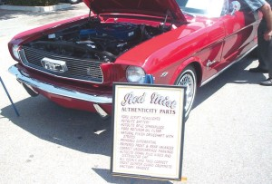 Craig Cunningham of Lake Balboa calls his 1966 candy-apple-red Mustang convertible Red Mist.