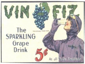 This is one of six Vin Fiz postcards Cal Rodgers dropped from his airplane to advertise the soft drink. That form of advertising stopped with the death of Harriet Quimby.