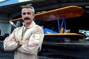 """Aaron Tippin flies his Stearman in the """"Ready to Rock (in a Country Kinda Way)"""" video. Currently, the pilot also owns a Cub, a Super Decathlon and a Helio Courier."""