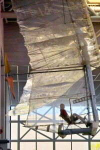 Paul MacCready's most famous design, the Gossamer Condor, hangs in the Smithsonian's Air and Space Museum alongside the Wright brothers' glider.