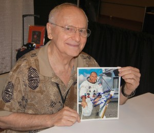 Apollo 12 astronaut Alan Bean, the fourth moonwalker, is now an accomplished space artist.