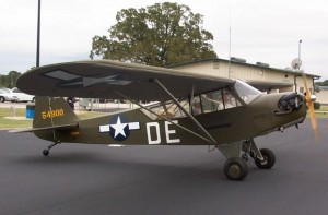 Hugh O'Donnell was in the process of restoring an L-4 he found in Colorado when he read Jim Stegall's book and decided to designate it as a Texas division of the 155 Infantry. Restoration began in February 2004 and concluded in August 2005.